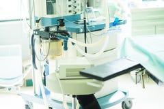 Μηχανή αναισθησίας στο λειτουργούν δωμάτιο νοσοκομείων Στοκ Φωτογραφία