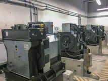 Μηχανή ανελκυστήρων στο θάλαμο ελέγχου ανελκυστήρων στοκ εικόνες