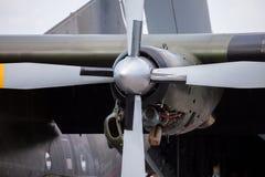 Μηχανή από ένα Transall γ-160 μεταφορικό αεροπλάνο Στοκ Εικόνες