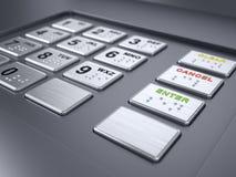 μηχανή αριθμητικών πληκτρολογίων του ATM Στοκ Εικόνες