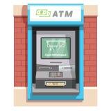 Μηχανή αφηγητών οδών ATM με την τρέχουσα λειτουργία απεικόνιση αποθεμάτων