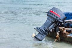 Μηχανή βαρκών με τις λεπτομέρειες προωστήρων Στοκ εικόνες με δικαίωμα ελεύθερης χρήσης
