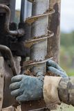 Μηχανή διατρήσεων για τις τρύπες με τρυπάνι Στοκ φωτογραφία με δικαίωμα ελεύθερης χρήσης
