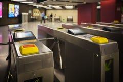 Μηχανή εισόδων του σταθμού μετρό Στοκ Φωτογραφίες