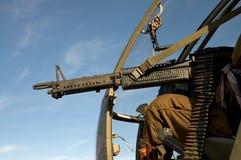 μηχανή ελικοπτέρων πυροβό&la Στοκ εικόνα με δικαίωμα ελεύθερης χρήσης