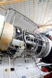 Μηχανή ενός ιδιωτικού αεροπλάνου Στοκ Φωτογραφία