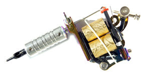 Μηχανή δερματοστιξιών για να εργαστεί Στοκ φωτογραφία με δικαίωμα ελεύθερης χρήσης