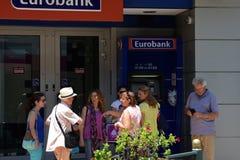 Μηχανή Ελλάδα τουριστών ATM Στοκ Φωτογραφία