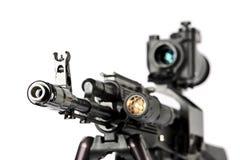 μηχανή καλάζνικοφ πυροβόλ Στοκ Εικόνα