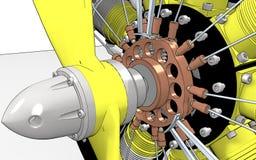 μηχανή κυλίνδρων ακτινωτή Στοκ Εικόνα