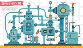 Μηχανή μηχανημάτων steampunk διανυσματική απεικόνιση