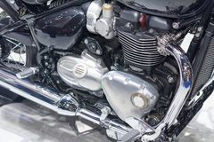 Μηχανή μοτοσικλετών, λεπτομέρεια της μηχανής μοτοσικλετών Στοκ Φωτογραφίες