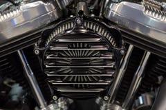 Μηχανή μοτοσικλετών ένας δίδυμος-κύλινδρος στοκ φωτογραφίες