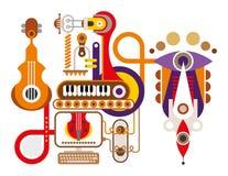 Μηχανή μουσικής ελεύθερη απεικόνιση δικαιώματος