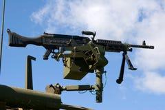 μηχανή Μ240 πυροβόλων όπλων Στοκ Εικόνες