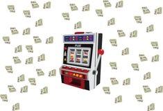 Μηχανή παιχνιδιών μηχανημάτων τυχερών παιχνιδιών με κέρματα ελεύθερη απεικόνιση δικαιώματος