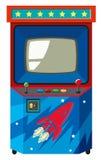 Μηχανή παιχνιδιών Arcade με το διαστημικό θέμα διανυσματική απεικόνιση