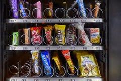 Μηχανή πώλησης πρόχειρων φαγητών Στοκ εικόνες με δικαίωμα ελεύθερης χρήσης