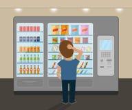 Μηχανή πώλησης πρόχειρων φαγητών απεικόνιση αποθεμάτων