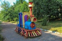 Μηχανή σιδήρου παιδιών Στοκ φωτογραφία με δικαίωμα ελεύθερης χρήσης