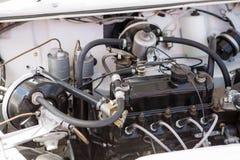 Μηχανή του αναδρομικού αυτοκινήτου Στοκ Εικόνα