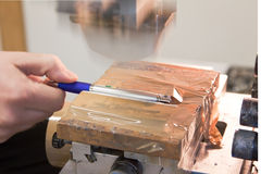 Μηχανή τυπωμένων υλών μαξιλαριών Στοκ Φωτογραφίες