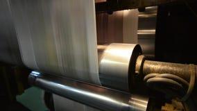 Μηχανή τυπωμένων υλών όφσετ στο σπίτι τυπωμένων υλών απόθεμα βίντεο