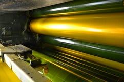 Μηχανή τυπωμένων υλών όφσετ Στοκ Εικόνες