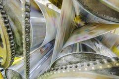 Μηχανή τυπωμένων υλών roto εφημερίδων Στοκ Φωτογραφία
