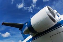 Μηχανή των σύγχρονων αεροσκαφών Στοκ εικόνα με δικαίωμα ελεύθερης χρήσης