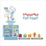Μηχανή Χριστουγέννων Επιστολές επεξεργασίας από τα δώρα παιδιών ελεύθερη απεικόνιση δικαιώματος