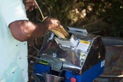 Μηχανή χυμού καλάμων στοκ φωτογραφίες