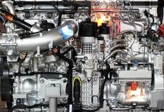 Μηχανή diesel βαριών φορτηγών στοκ εικόνες