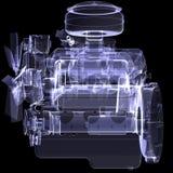 Μηχανή diesel. Η ακτίνα X δίνει διανυσματική απεικόνιση