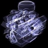 Μηχανή diesel. Η ακτίνα X δίνει απεικόνιση αποθεμάτων