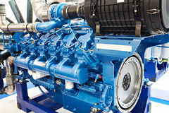 12 μηχανή diesel κυλίνδρων Στοκ φωτογραφία με δικαίωμα ελεύθερης χρήσης