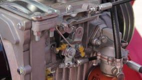 Μηχανή diesel στο τρακτέρ φιλμ μικρού μήκους