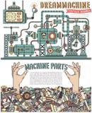 Μηχανή Steampunk απεικόνιση αποθεμάτων