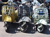 Μηχανικά δίκυκλα Vespa Στοκ Εικόνες