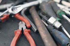 Μηχανικά εργαλεία Αυθεντικά εργαλεία Στοκ Εικόνα