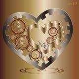 Μηχανική εικόνα καρδιών δύο Στοκ εικόνες με δικαίωμα ελεύθερης χρήσης