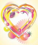 Μηχανική ελαφριά καρδιά βαλεντίνων διανυσματική απεικόνιση