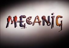 μηχανική λέξη εργαλείων στοκ εικόνες