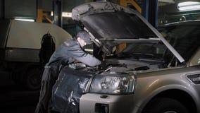 Μηχανική μηχανή αυτοκινήτων καθορισμού αυτοκινήτων απόθεμα βίντεο