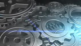 Μηχανική μηχανική μηχανή εργαλείων επιχειρησιακής έννοιας περιστρεφόμενη ελεύθερη απεικόνιση δικαιώματος