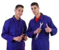 μηχανικοί δύο στοκ φωτογραφία με δικαίωμα ελεύθερης χρήσης
