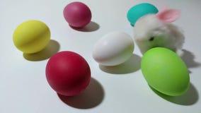 Μηχανικοί λυκίσκοι λαγουδάκι Windup μεταξύ των αυγών Πάσχας φιλμ μικρού μήκους