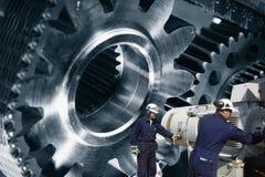 Μηχανικοί, cogwheels και μηχανήματα Στοκ Φωτογραφία