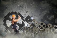 Μηχανικός ατόμων Στοκ Εικόνα