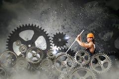 Μηχανικός ατόμων Στοκ Φωτογραφία